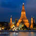 An Evening View Along The Chao Phraya by spanjavan
