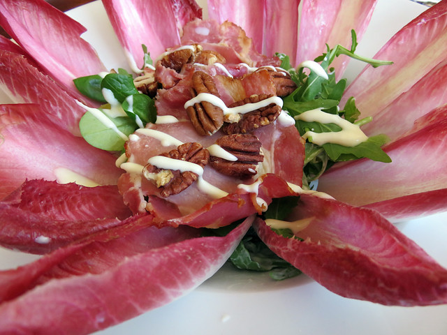 A tasty endive salad at Gollem's Proeflokaal, a 'Brown Café' which is what they call historic pubs in Amsterdam, Holland