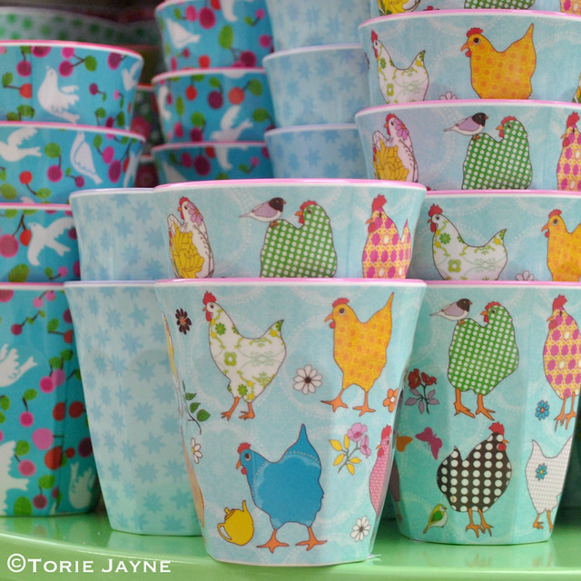 Cute Hen Cups from Pinks & Green