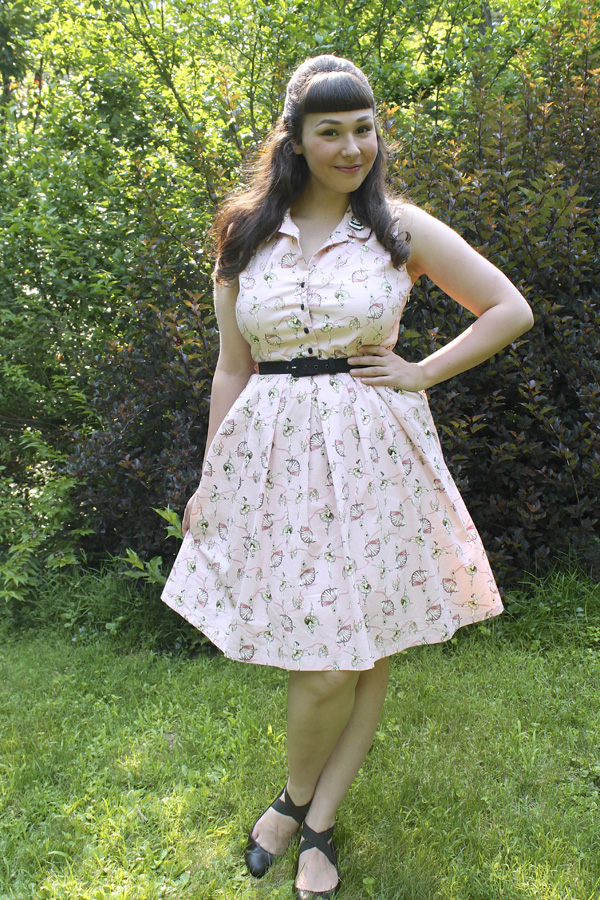 ballerina print dress