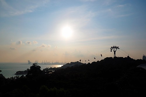 travel sunset car singapore dusk slide daily jul studios sentosa 日落 07 skyride 旅遊 生活 夕照 2015 七月 新加坡 聖淘沙 滑車