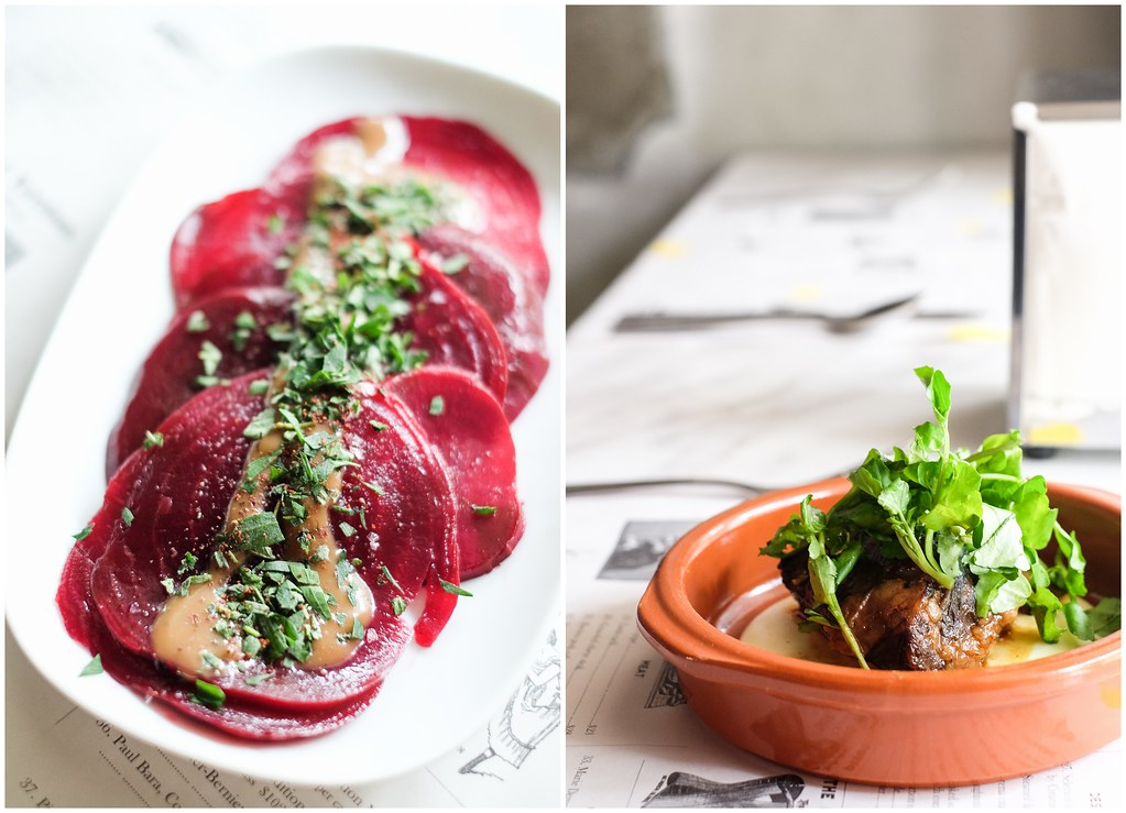 LOLLA's Beetroot Carpaccio & Slow Cooked Short Rib