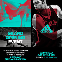 7/29 - Wed. - Join Us for the Sneak Peak of the new adidas store in Freehold NJ
