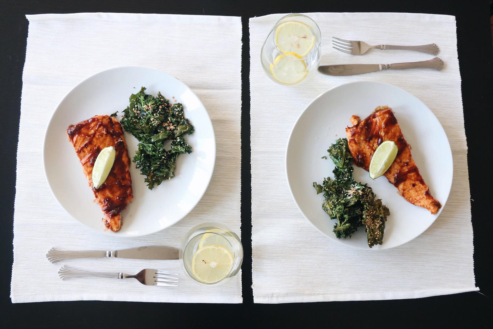 salmon & crispy kale 1