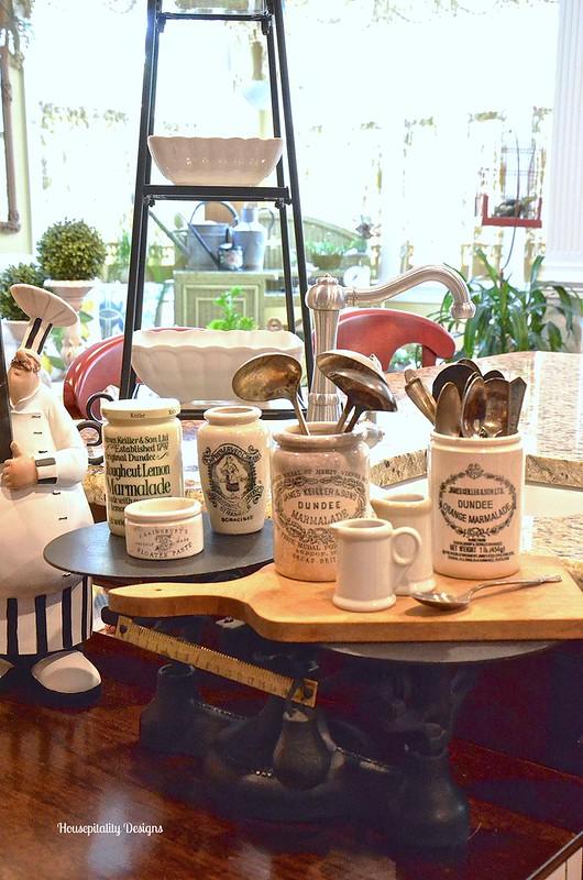 Vintage Scale Vintage Marmalade Jars/ Housepitality Designs