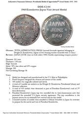 Presidential Medal of Appreciation Award Medals sample page