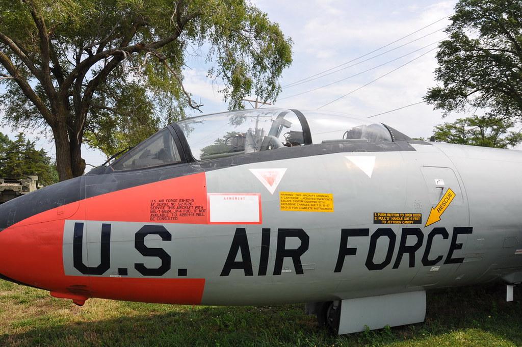 B57 nose / cockpit . dayglow