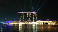 Light show from Marina Bay Sands