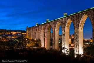 Aqueduto das Águas Livres 的形象. light colour portugal arch dusk lisboa lisbon nopeople aqueduct luis bluehour urbanscape ascenso aquedutodaságuaslivres