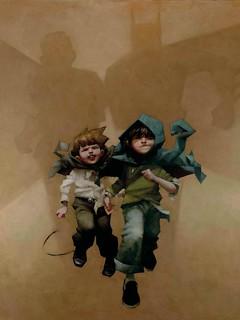 孩童的打鬧風景,充滿童心幻想的電影英雄們 by Craig Davison.