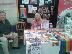 Pride Stall Day two Plymouth Respect 2015