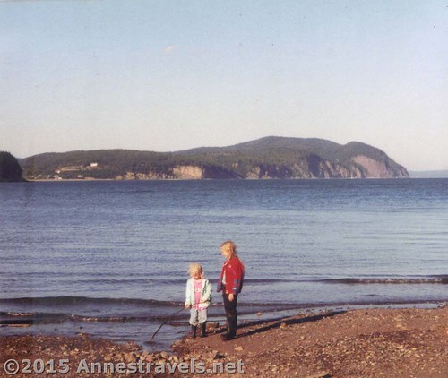 Between the trips to the Canadian Rockies, here enjoying the Bay of Fundy, New Brunswick