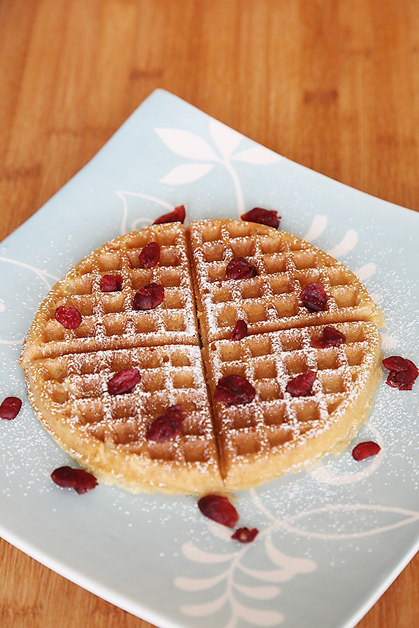 Eggless Wholewheat Waffles