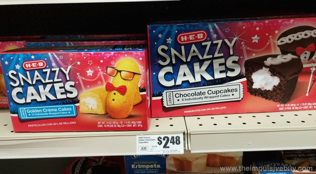 H-E-B Snazzy Cakes (Golden Creme Cakes and Chocolate Cupcakes)