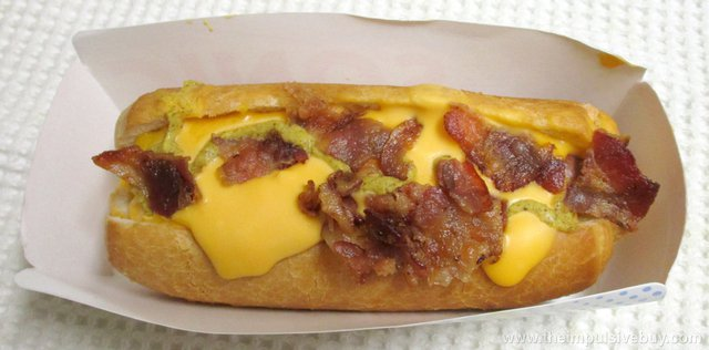 Sonic Bacon Double Cheddar Croissant Dog