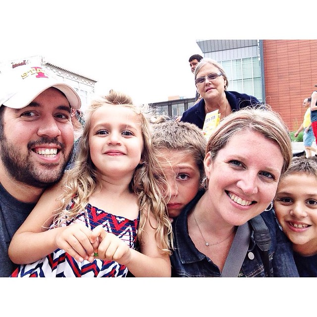 Photo bombed by Yia Yia ! #paradetime #summer2015