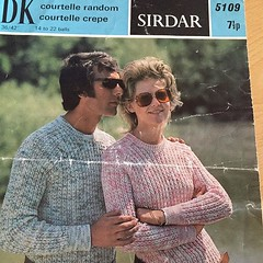 Mother has started knitting this. I'm pretty sure the pattern is from the early 70s judging by the price. #70s