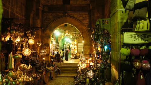 Bab El-Ghuri at night looks magical