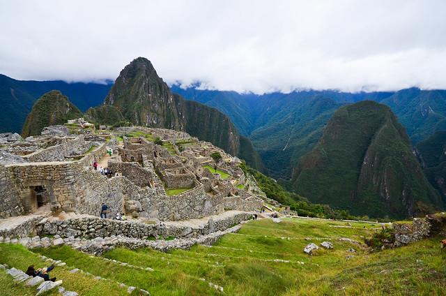 Ciudad antigua de Machu Picchu y terrazas agrícolas