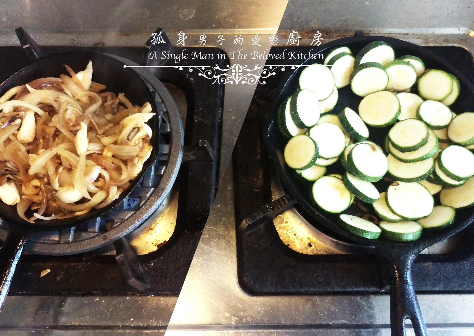 孤身廚房-清冰箱簡單早午餐!培根野菇櫛瓜義式烘蛋Frittata12