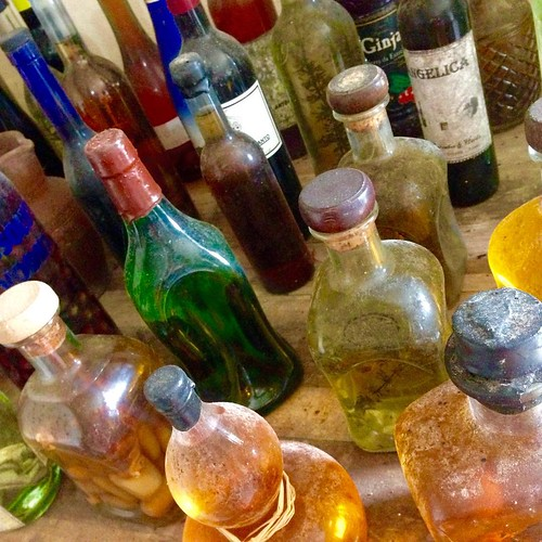 An apothecary's dream: bottles and bottles and bottles. #Terceira #theAzores wine tour #moonshine