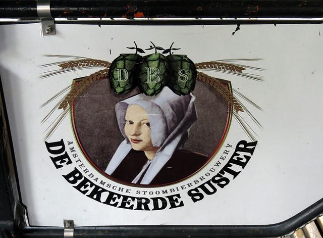 Amsterdam's De Bekeer de Suster Brewpub Sign at Entrance