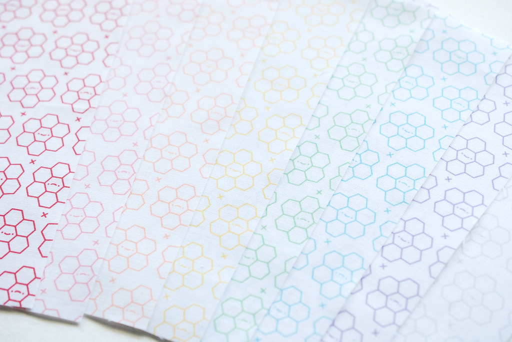 Hexagon Tinies // Spoonflower Fabric Collection