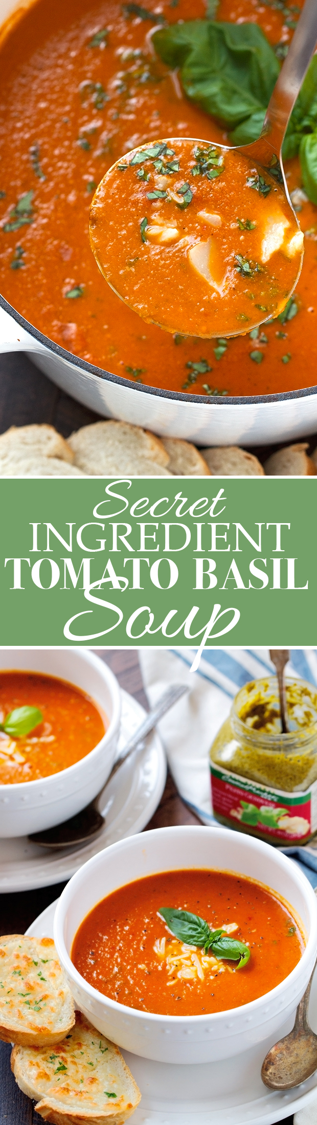 Secret Ingredient Tomato Basil Soup - One super important ingredient makes this soup so OUTSTANDING! #tomatobasilsoup #tomatosoup #tomatobasilbisque | Littlespicejar.com