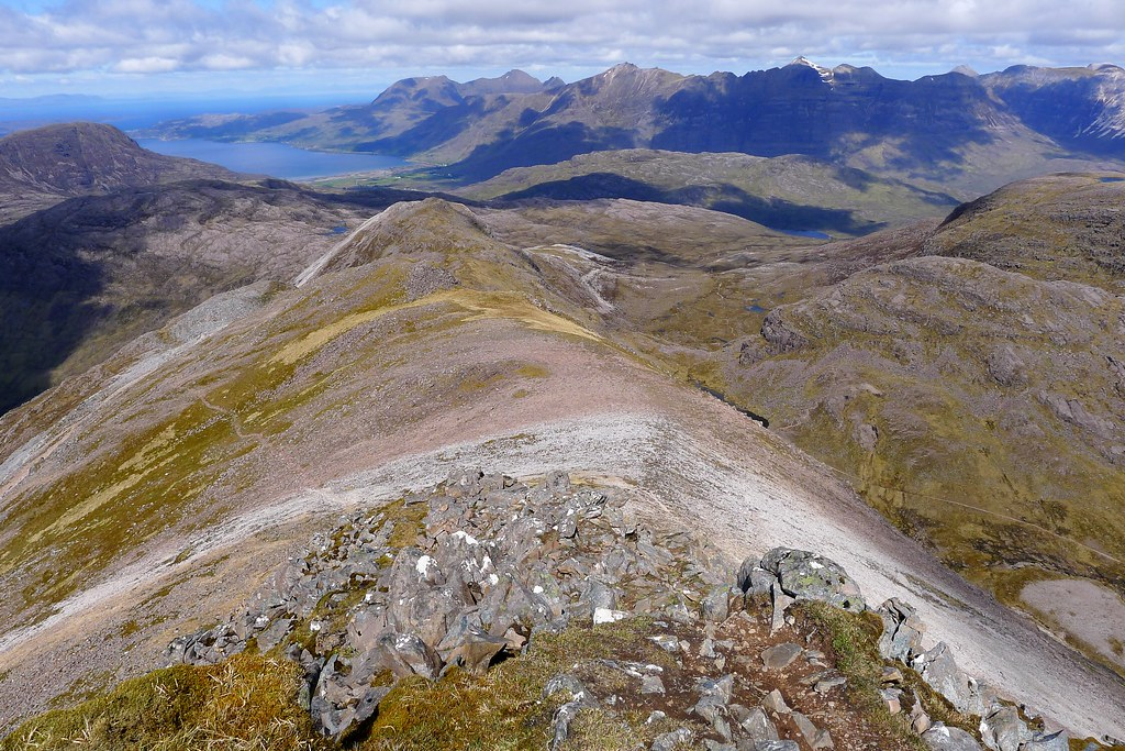 Looking down the northwest ridge of Sgor Ruadh