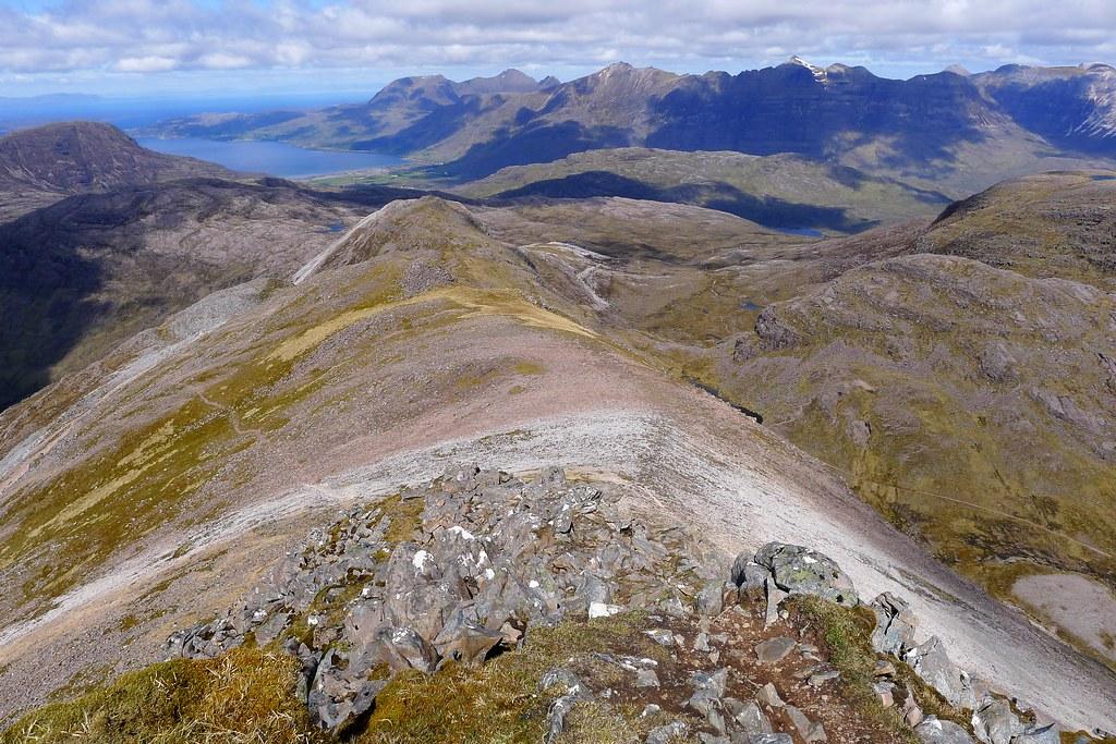 Looking down the northwest ridge of Sgor Ruadh