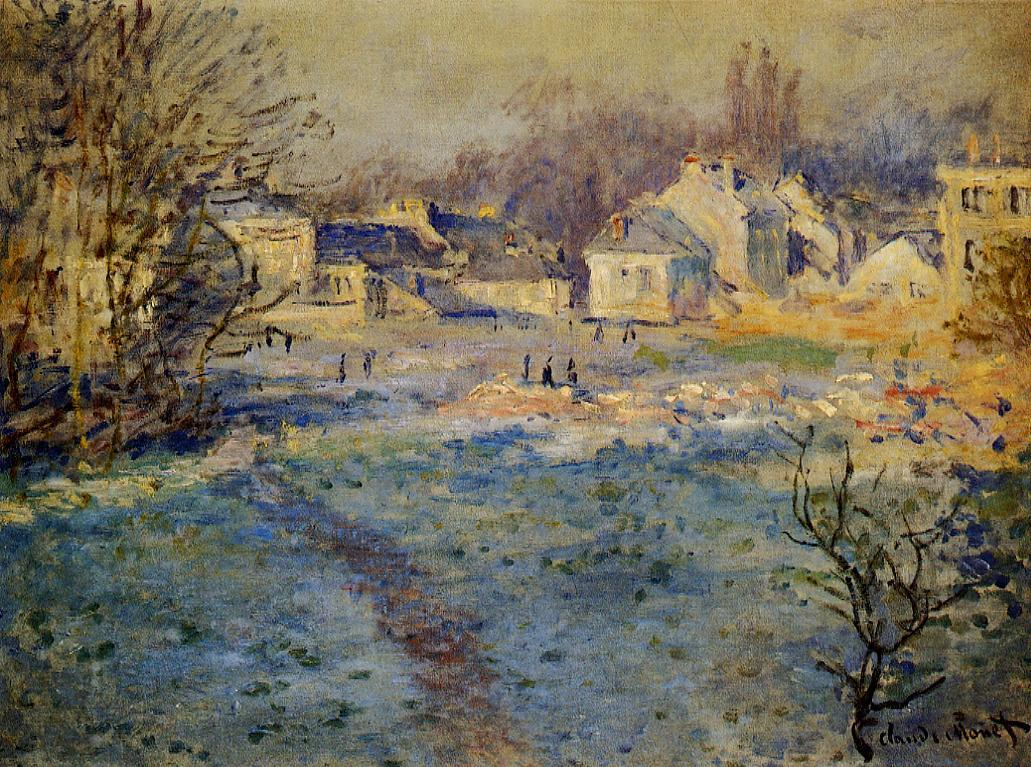 White Frost by Claude Oscar Monet - 1875