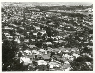 View from Mount Eden across Epsom towards Greenlane and One Tree Hill.
