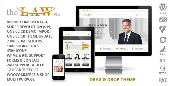 The Law v3.1 - Lawyer Theme + RTL