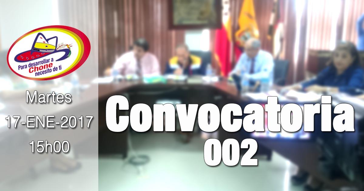 Convocatoria 002