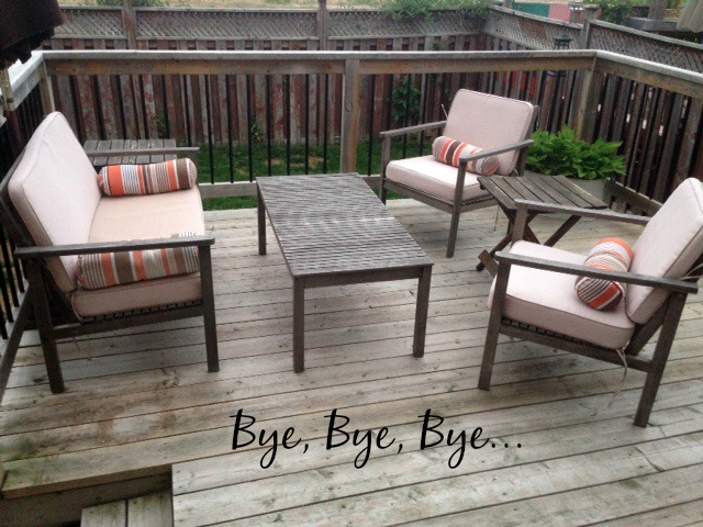 wooden patio furniture