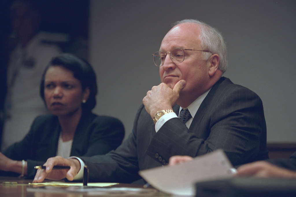 Vice President Cheney with National Security Advisor Condoleezza Rice in the President's Emergency Operations Center (PEOC)