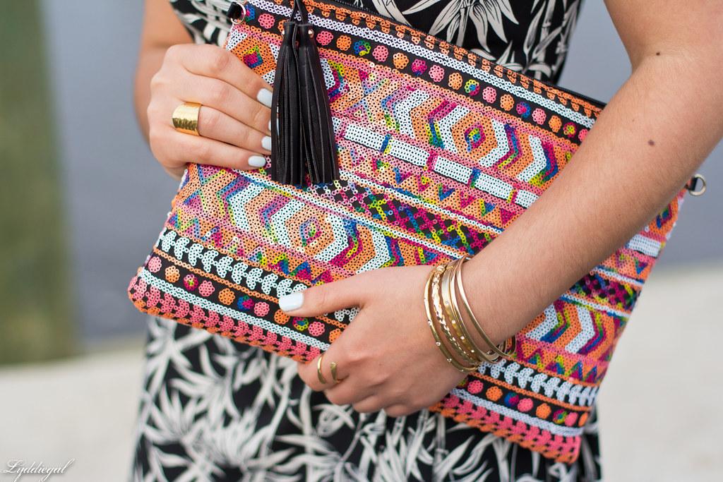 bamboo print wrap dress, sequined aztec clutch-6.jpg