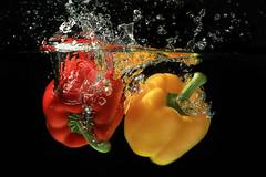 Capsicum Fruit splash wate