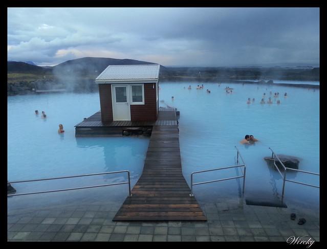 Los baños naturales Jardbodin en el lago Myvatn