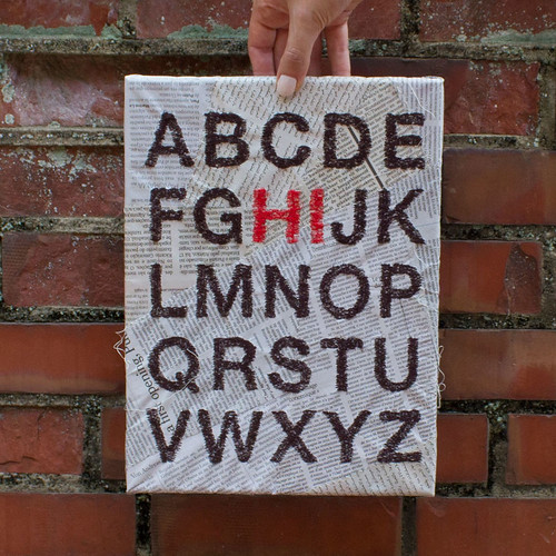 Hi Alphabet Stitched Wall Art