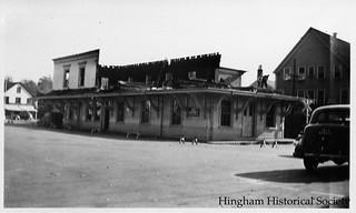 Demolition of Hingham Square Train Station