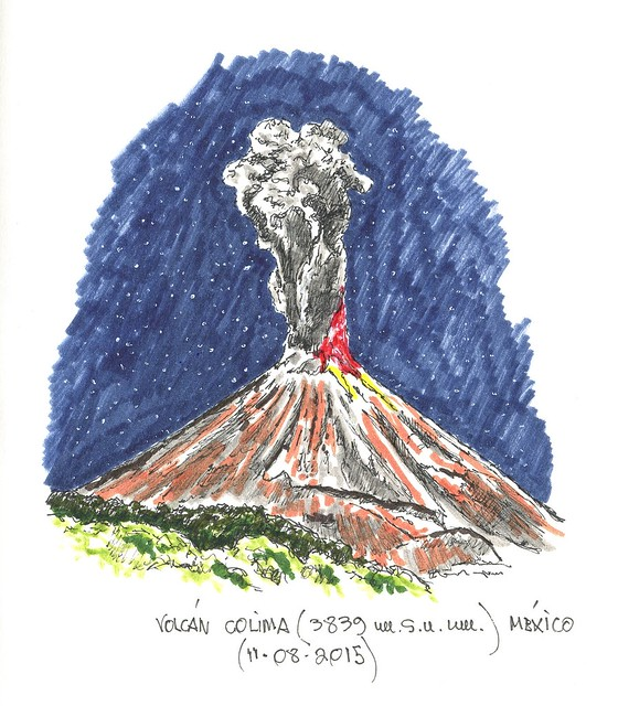 Volcán Colima (3.839 m.s.n.m.)