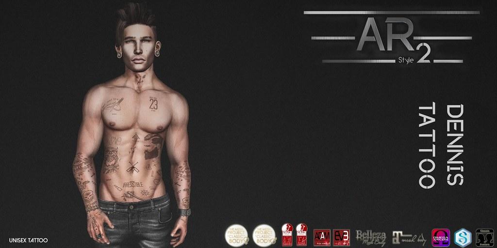 [AR2 Style] Dennis Tattoo - SecondLifeHub.com