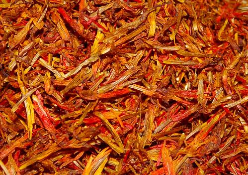 Saffron whole close up