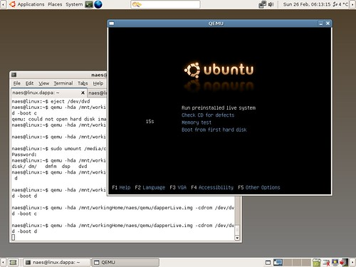 Nubuntu running emulated in Dapper