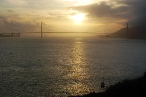 Sunset over Golden Gate