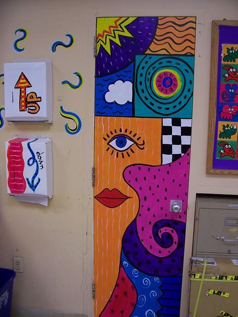 Latest Classroom Door Decoration Ideas ~ Painted door in my classroom flickr photo sharing