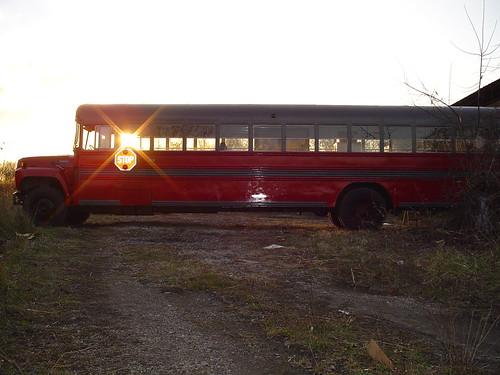 school sunset bus pary freshpaint