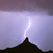 Lightning Hitting Pinnacle Peak