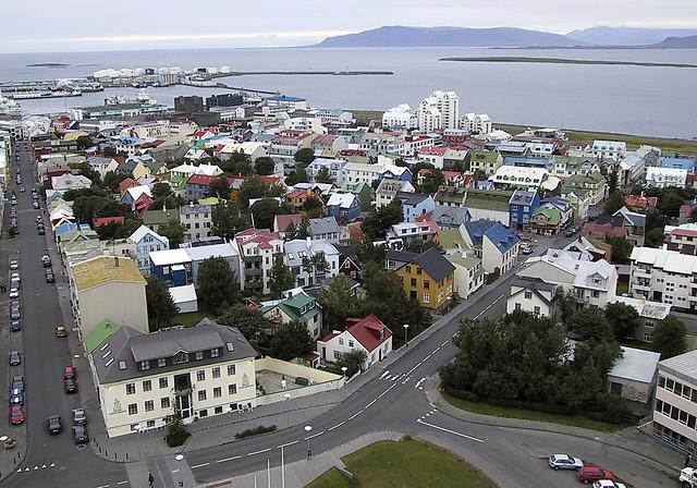 Across Reykjavik (left), Canon POWERSHOT S10